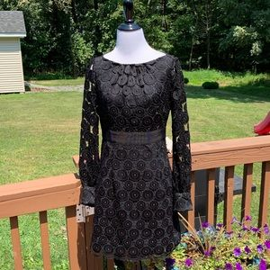 An Original Milly of New York Black Lace Dress 4